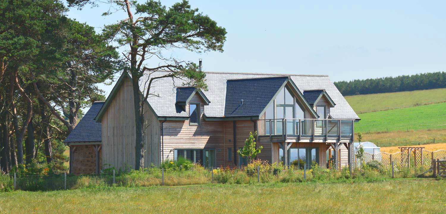 Eco-friendly houses in the countryside